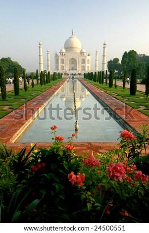 Taj Mahal Frontview - stock photo
