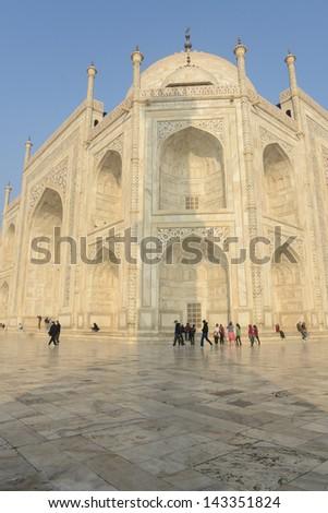Taj Mahal in Agra India - stock photo