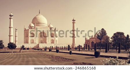 Taj Mahal in Agra, India - stock photo