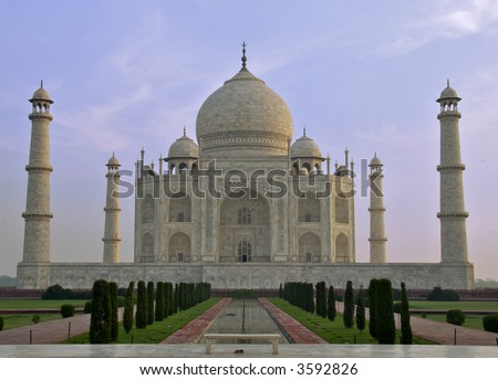 Taj Mahal in Agra India - stock photo