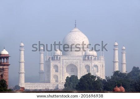 Taj Mahal in early morning light - stock photo