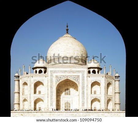 Taj Mahal in India, Agra, Uttar Pradesh - stock photo