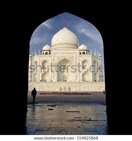 Taj Mahal, India. - stock photo