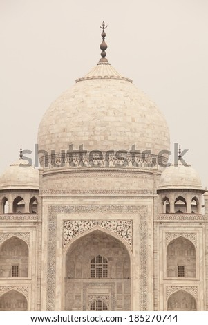 Taj Marhal art of love story building  - stock photo