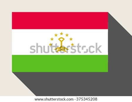 Tajikistan flag in flat web design style. - stock photo