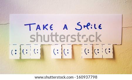 Take a Smile - stock photo