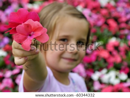 Take my flower, please - stock photo