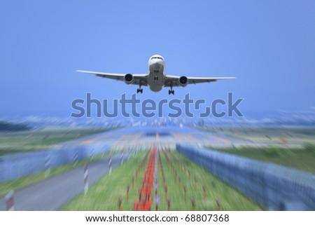 Take off. - stock photo