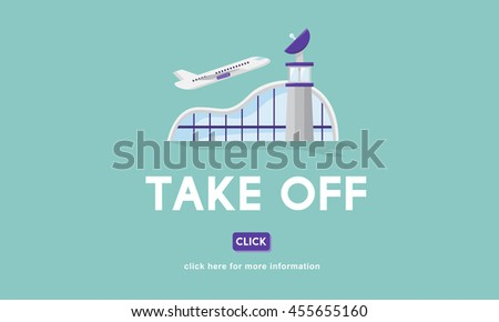 Take Off Business Trip Flights Travel Concept - stock photo