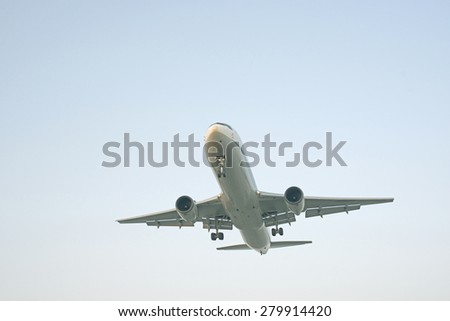 Take off of the airplane - stock photo