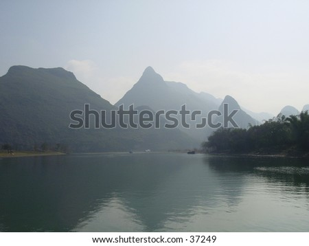 taken in guilin, china - stock photo