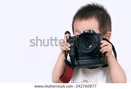 Taking pictures of children