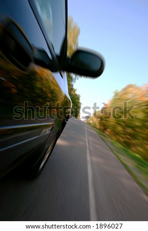 Taking the fast track to great travel or great success. - stock photo