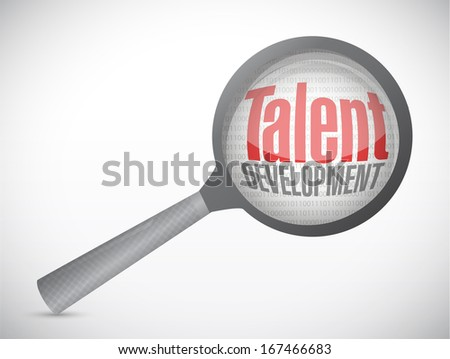 talent development investigation concept illustration design over a white background