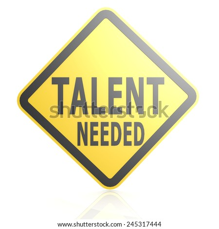 Talent needed road sign image with hi-res rendered artwork that could be used for any graphic design.