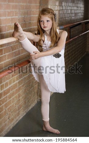Talented Young Dancer Stretching