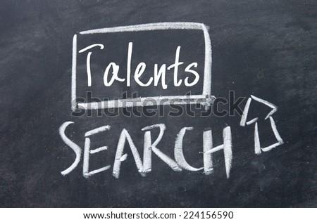 talents search interface on blackboard - stock photo