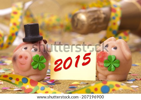 Talisman for new year 2015 - stock photo
