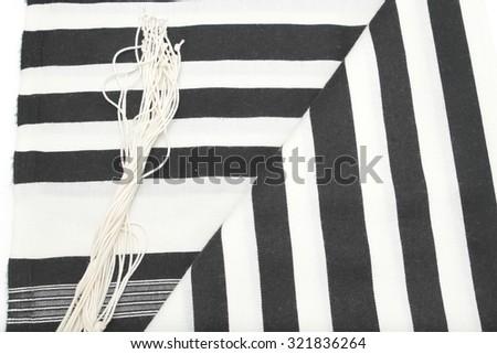 Talit,  Prayer Shawl - Tallit, Jewish religious symbol - stock photo