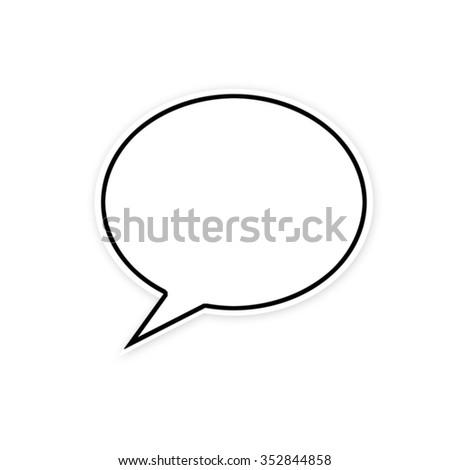 Talk Bubble - stock photo
