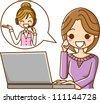 Talk operator - stock vector
