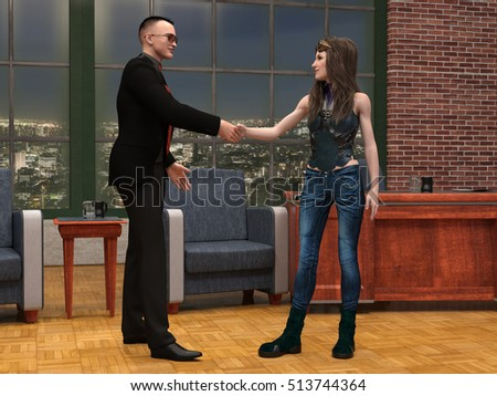 Talk Show TV performance scene 3d illustration