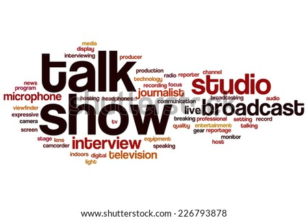 Talk show word cloud concept - stock photo