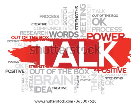 TALK. Word business collage background   - stock photo
