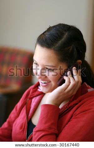 talking on cell phone - stock photo