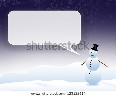 talking snowman - stock photo