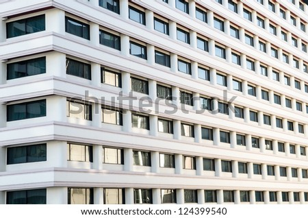 Tall apartment building in thailand - stock photo