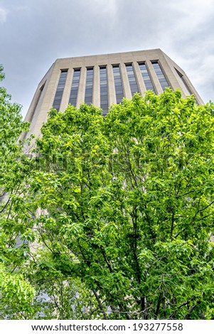 Tall building in downtown Boise Idaho - stock photo