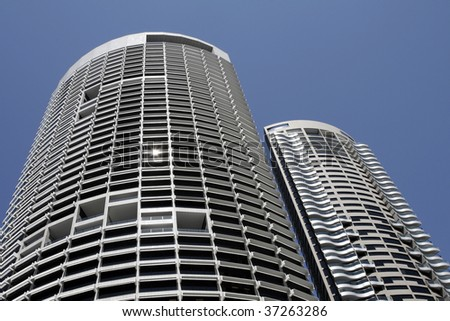Tall Modern Urban Office Building In Sydney, Steel And Glass Facade, Australia - stock photo