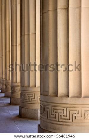 Tall pillars - stock photo