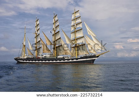 Tall ship. Collection of the best sailing - stock photo