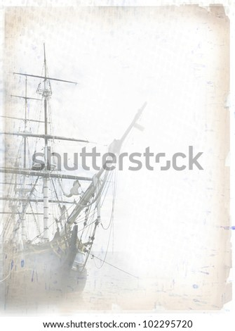 stock-photo-tall-ship-on-grungy-paper-co