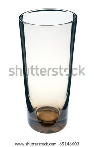 Tall thick-bottomed cocktail glass isolated on white