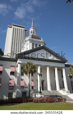 Tallahassee State Capitol buildings Florida USA - stock photo