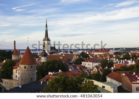 Tallinn city view, capital of Estonia, Europe