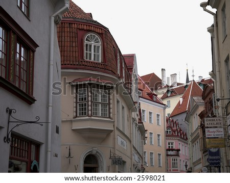 Tallinn Estonia Buildings - stock photo