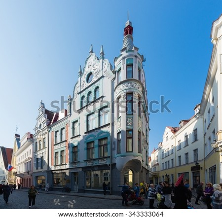 TALLINN/ESTONIA - SEPTEMBER 20, 2014; The Streets of old town.