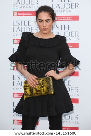 Tallulah Harlech arriving for the launch party for the Fashion Rules exhibition, Kensington Palace, London. 04/07/2013 - stock photo