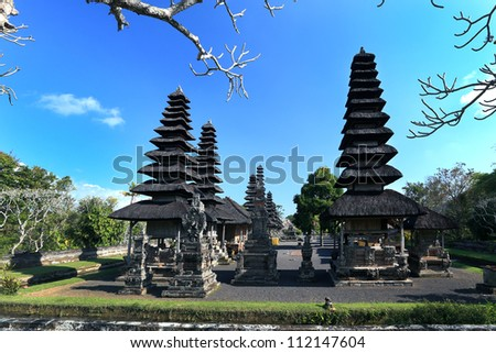 Taman Ayun Temple at Bali - Indonesia - stock photo