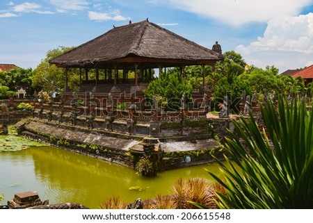 Taman Gili, Klungkung. The remains of the original palace of the Klungkung royal family and court of justice.  - stock photo