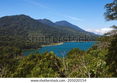 Tamblingan lake, Bali, Indonesia - stock photo