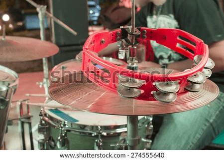 Tambourine and drum - stock photo