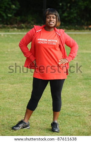 Tameka Empson at the launch of the Virgin Active London Triathlon celebrity team, Acton, London. 07/06/2011  Picture by: Steve Vas / Featureflash