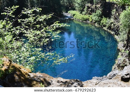 Tamolitch Blue Pool, A Deep Blue Colored Lake On The McKenzie River In  Central