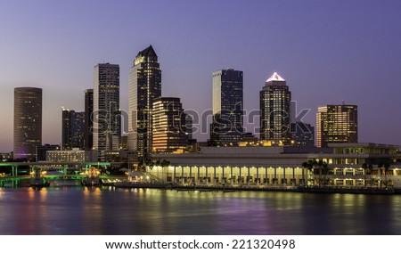 Tampa, FL Downtown Skyline - stock photo