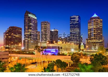 Tampa, Florida, USA downtown skyline. - stock photo